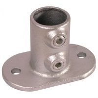 Size 2 Base Plate Pipe Clamps H.Rail | FTM