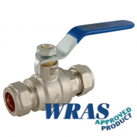 Pro-Comp Blue Ball Valve | Lever Handle | Brass