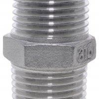1/8 BSPT M/M Hex Nipple 150Lb 316SS